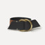 Buckles bracelet in black & gold calfskin, brass buckles
