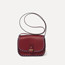 Rohan mini in burgundy calfskin, blue & black saddle rope
