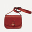 Rohan mini in red calfskin, red & black saddle rope