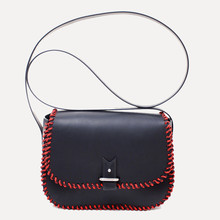 "Rohan S, veau noir - black & red laced rope, strap 90 cm (35.4"")"