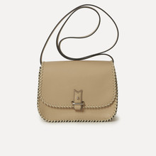 Rohan S in natural calfskin, beige -  laced rope, 125cm thin or large strap