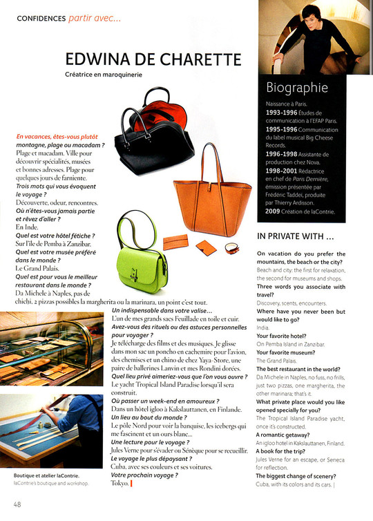 Air France Magazine, octobre 2012