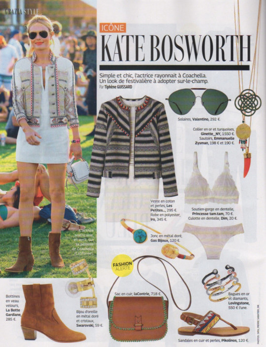 Grazia, 10 to 25 June 2015