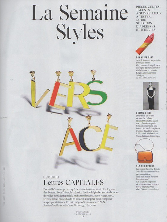 L'Express Styles, 8 October 2015