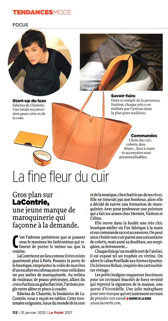 Le Point, 31 janvier 2013